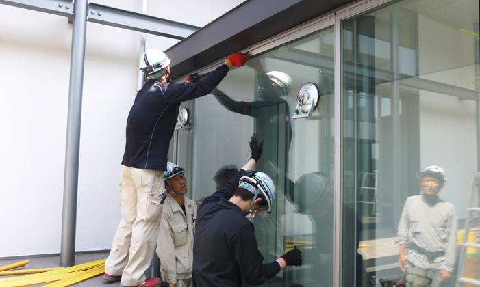 一般家庭での窓ガラス施工の流れ⑥調整